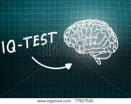 Iq Test  Brain Background Knowledge Science Blackboard Turquoise