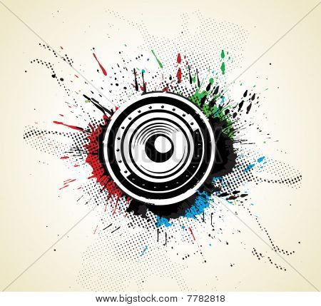 abstract grunge music concept poster template,
