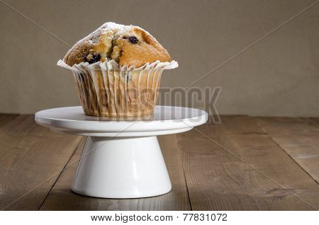 Blueberry Muffin On A Cakestand