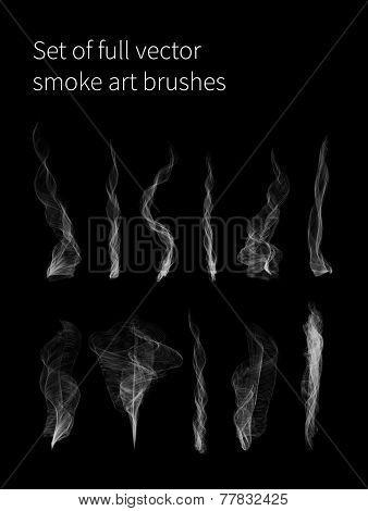 Set of full vector smoke brushes