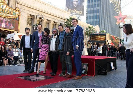 LOS ANGELES - DEC 8: A Serkis, Richard Armitage, Evangeline Lilly, Peter Jackson, Orlando Bloom, E Wood, Lee Pace at the Peter Jackson WOF at the Dolby Theater on December 8, 2014 in Los Angeles, CA