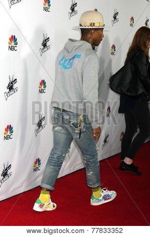 LOS ANGELES - DEC 8:  Pharrell Williams at the NBC's