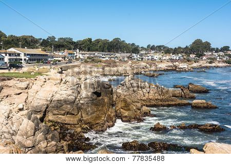 The coast of Pacific Grove, California