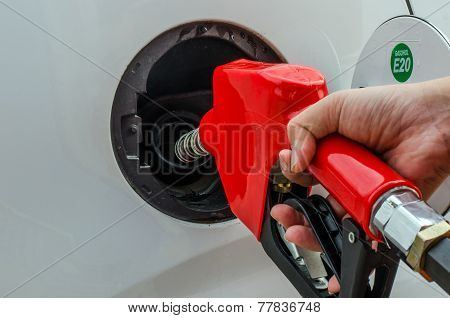 Fuel Nozzle Add Fuel In Car