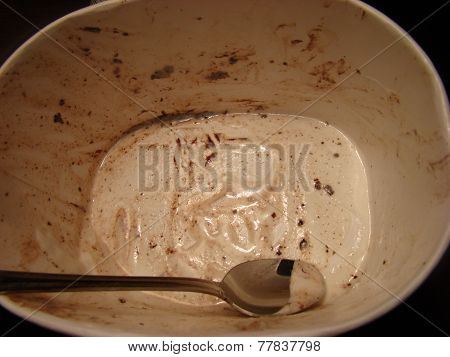 Empty ice cream box
