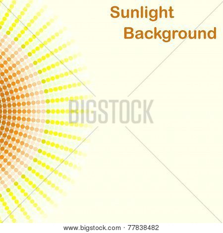 Colorful Sunlight Background, Round Sunbeams