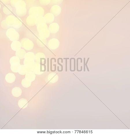 Defocused  Twinkling Lights Christmas Bokeh Background. Christmas Blur Background. Vintage Backgroun