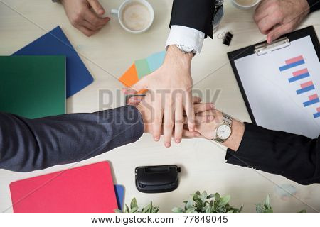 Business Leaders Joining Hands