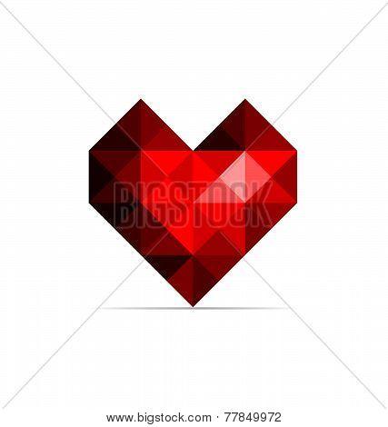 Vector red heart