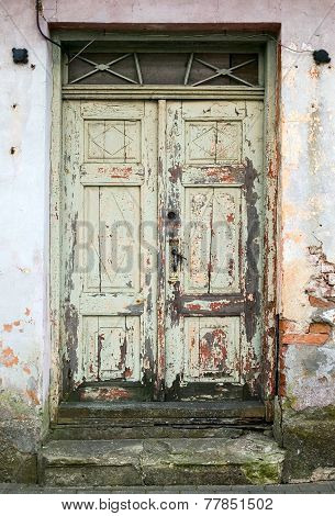 Wooden old fashion vintage abandoned outdoor door