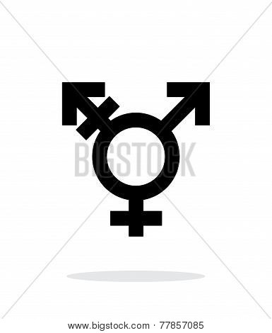 Transgender icon on white background.