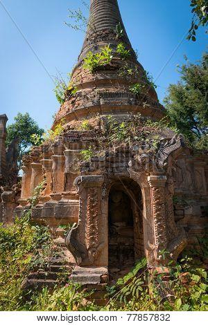 Ruins Of Ancient Burmese Buddhist Pagoda