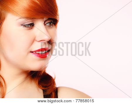 Portrait Beautiful Young Redhaired Woman