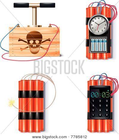 Explosive icon set