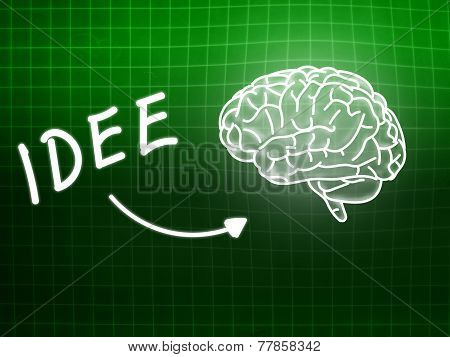 Idee Brain Background Knowledge Science Blackboard Green