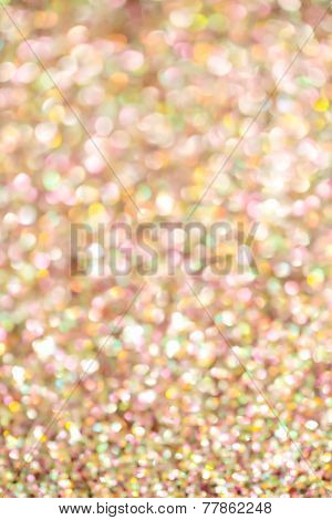 Gold and Pink Bokeh Background
