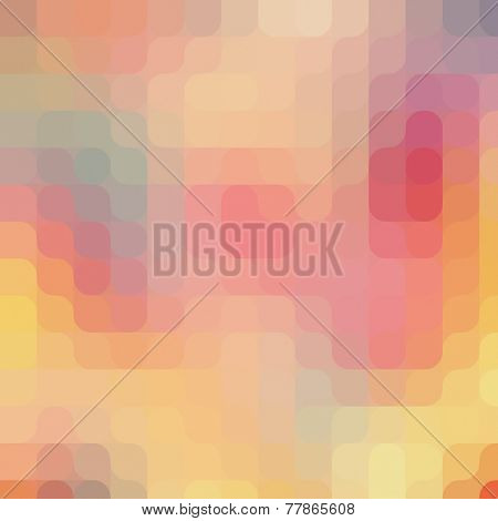 Round pixel art pattern. Colorful modern background, design in vintage colors.