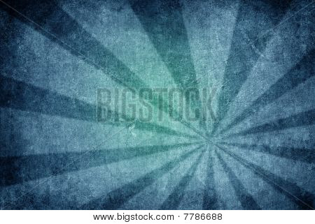 Grunge Blue-burst Background Texture