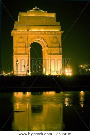 Illuminated India Gate,Delhi,India