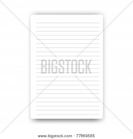 Blank Page Notebook Vector.eps