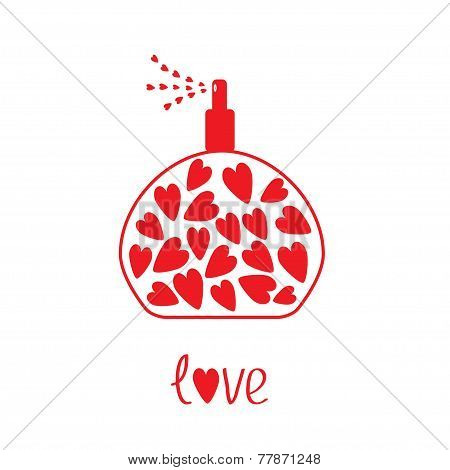 Perfume With Hearts Inside. Card