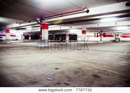 Parking Garage, Grunge Underground Interior