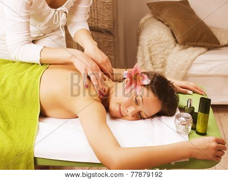 stock photo attractive lady getting spa treatment