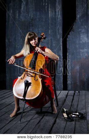 Beautiful Cello Musician