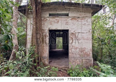 Old American Military Base Buiding In Panama