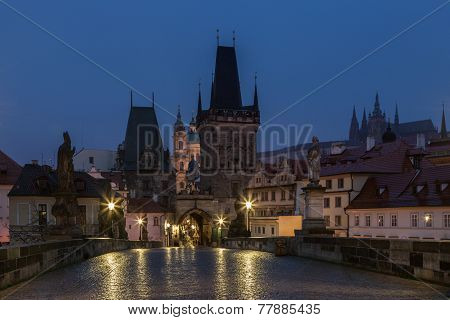 Charles Bridge In The Early Morning, Prague