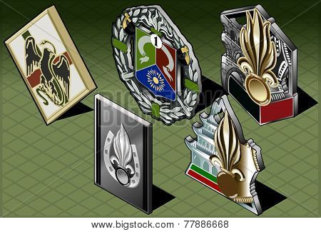 Isometric Various Medals