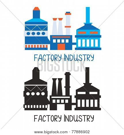Factory icon for logo or design element