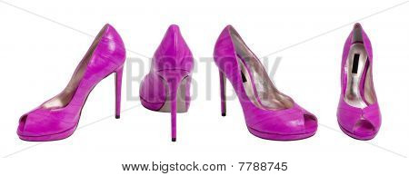 Purple Women High Heel Women Shoe