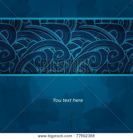 Winter card. Vector template design. Invitation card on grunge b