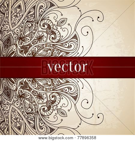 Vintage vector pattern. Hand drawn abstract background.
