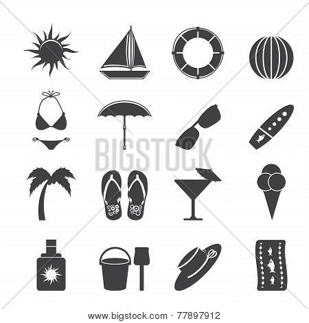 Silhouette Summer and Holiday Icons