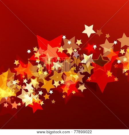 Shiny Background With Abstract Glowing Stars. Vector Holiday Background. Christmas Or New Year Greet
