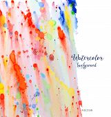 stock photo of wet  - Abstract watercolor background - JPG