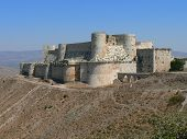 pic of crusader  - Krak des Chevaliers, Old crusaders castle in Syria