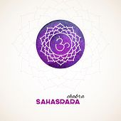 stock photo of kundalini  - Vector illustration of Color chakra watercolor design - JPG