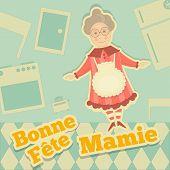 stock photo of grandma  - Grandmother Day France - JPG