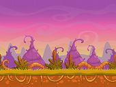 foto of fairy  - Seamless cartoon fantasy landscape - JPG