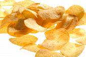 Potato Chips Close Up