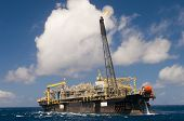 foto of oil drilling rig  - FPSO  - JPG
