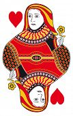 picture of gambler  - Queen of hearts without playing card background - JPG