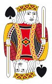 pic of spade  - King of spades without playing card background - JPG