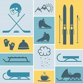 foto of bandy stick  - sports leisure activities icons - JPG