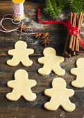 pic of gingerbread man  - Gingerbread Man - JPG