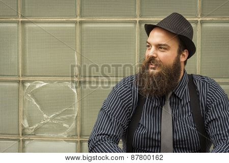 Satisfied Bearded Man