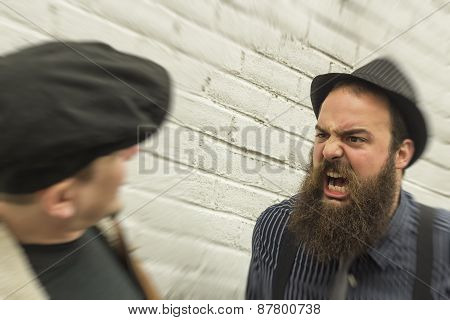 Crazy Yelling Bearded Man